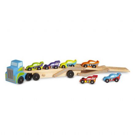 Melissa & Doug Mega Race Car Carrier Toy - Multi-Coloured